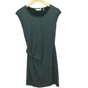 REBECCA TAYLOR Rhinestone Cap Sleeve Gray Dress S